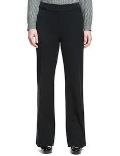 Angled Seam Bootleg Trousers | M&S