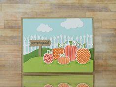 Pumpkin Patch Card by Taylor VanBruggen #Cardmaking, #Fall, #Halloween, #BuildAScene, #TE, #ShareJoy