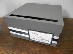 Modern Wedding Card Box Bridal Shower Engagement by astylishdesign, $35.00