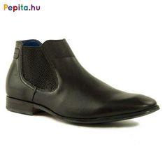 Bugatti férfi utcai bokacipő, természetes bőr felsőrésszel, fekete színben.Belebújós fazonú, gumírozott boka cipő.Könnyű a le, és felvétele. Utcai viseletre, esetleg elegáns megjelenésekre is tökéletes választás. Méret:41 Bugatti, Chelsea Boots, Ankle, Shoes, Fashion, Moda, Zapatos, Wall Plug, Shoes Outlet