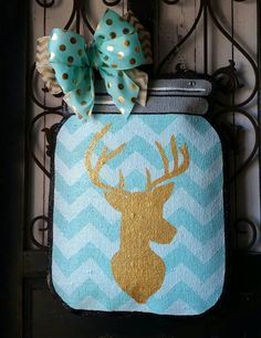 Check out this item in my Etsy shop https://www.etsy.com/listing/267707059/mason-jar-burlap-door-hanger-with-deer