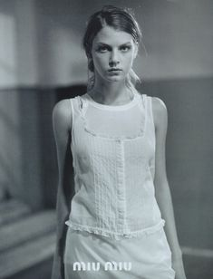 Angela Lindvall by Glen Luchford for the Miu Miu s/s 1997 campaign