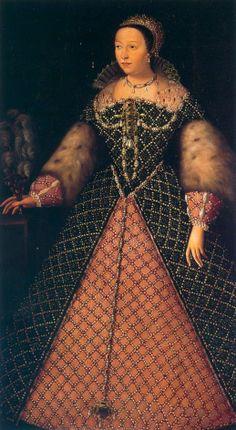 1556 Catherine de Medici possibly by Agnolo Bronzino(?) (Palazzo Pitti, Firenze) | Grand Ladies | gogm