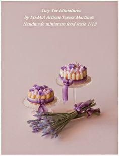 Lavender cake Tiny Ter Miniatures