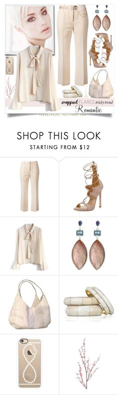 """Cropped Flares: Romantic Smart Casual"" by theseapearl ❤ liked on Polyvore featuring 3.1 Phillip Lim, Stuart Weitzman, Chicwish, Stephen Dweck, Nancy Gonzalez, Antik Batik, Casetify, Pier 1 Imports, TrickyTrend and paris"