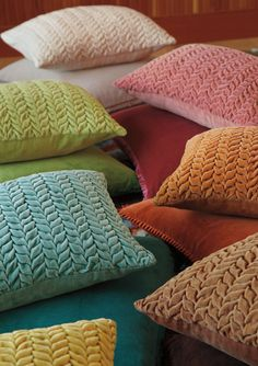 These Braided Velvet pillows offer gorgeous color and luscious texture to any room. #braidedpillows #colorfulliving #accentpillows #companyc