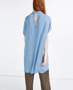 Zara, blusa, azzurro serenity, pantone, cartella colori, Labo54 oltrelamoda, fashion color report 2016, fashion blog, trends, shopping