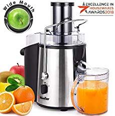 Mueller Austria Juicer Ultra Power Easy Clean Extractor Press Centrifugal Juicing Machine Wide 3 Feed Chute for Whole Fruit Vegetable Anti-drip High Quality BPA-Free Large Silver Fruit Juicer, Citrus Juicer, Fruit Smoothies, Protein Smoothies, Vegetable Smoothies, Magic Bullet, Nutribullet, Cucumber Juice Benefits, Juicer Reviews