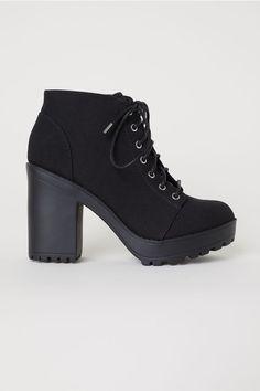 b63253e5f93a Platform Ankle Boots. Mid Calf BootsBlack Heeled ...