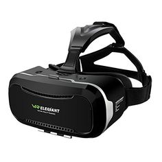 ELEGIANT Glasses - VR Headset - Virtual Reality Box for Movies and Games Compatible with iPhone Samsung and Other - Inches Smartphones Virtual Reality Systems, Virtual Reality Glasses, Virtual Reality Headset, Augmented Reality, Vr Headset, Best Black Friday, Black Friday Deals, Htc One, Android