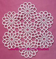 Crochet Cross, Irish Crochet, Crochet Motif, Crochet Doilies, Crochet Stitches, Crochet Rings, Crochet Necklace, Bead Crafts, Diy Crafts