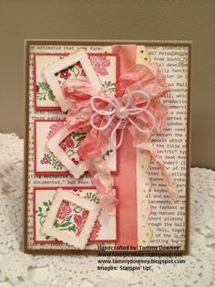 www.tammydowney.blogspot.com  www.lovetocreate.stampinup.net  Stampin' Up!