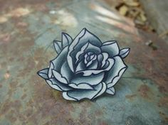 dear pretty tattoo rose ring, you will be mine.  :)    big vintage black and white surreal tattoo rose by wickedminky, $17.00