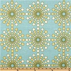 Waverly Circular Motion Turquoise  Item Number: UJ-527  Our Price: $15.98 per Yard