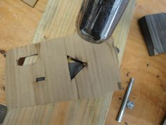 cardboard for directing heat to one place for fixing kydex tension
