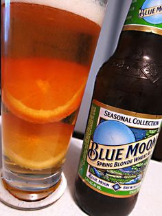 Blue Moon Spring Blonde Wheat Ale  Coors Brewing Company American Pale Wheat Ale 5.40 (3)