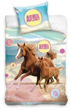 Dívčí ložní povlečení s koňmi