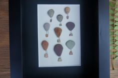 UP Pebble Art Hot Air Balloons Natural by SoldierCreekDesigns