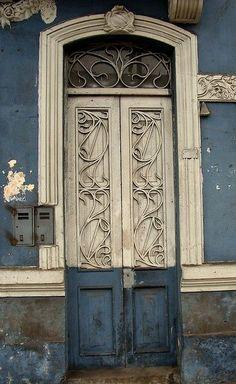 ☆ PERU ☆ #door #peru #blue