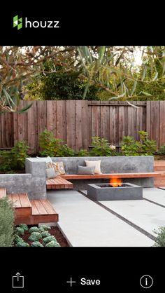 50 Modern Garden Design Ideas to Try in 2017 Outdoor Living Outdoor patio designs, Backyard garden design, Small backyard landscaping Small Backyard Gardens, Modern Backyard, Backyard Garden Design, Small Backyard Landscaping, Fire Pit Backyard, Backyard Patio, Landscaping Ideas, Small Backyards, Backyard Seating