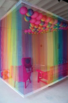 The rainbow room installation by pierre le riche—–Colorful love it woooooooooooow! this will be a COLORS office - The rainbow room installation by pierre le riche-----Colorful love it wooooooooo.