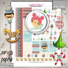 Nutcracker Stickers, Kawaii Stickers, Ballet Stickers, Planner Accessories, Christmas Stickers, Planner Accesories, Erin Condren, Stickers