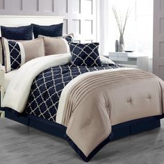 Another great find on Navy Central Park Embroidered Bedding Set by CHD Textiles Central Park, Best Bedding Sets, Comforter Sets, Floral Comforter, Kids Boy, Embroidered Bedding, White Decorative Pillows, Coastal Bedrooms, Up House