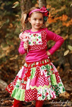 PeNnY PatchWork Twirl Skirt - pdf tutorial - ebook - 18m - 12y. $9.50, via Etsy.