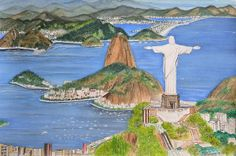 Christ the Redeemer, watercolor painting by Swati Singh
