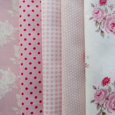 Pretty Tilda Fabric Bundle - PINKS - Smaller Pieces Perfect for Smaller Projects (S)