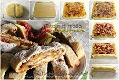 Rotolo di frolla ai fichi freschi | ricetta dolce passo-passo