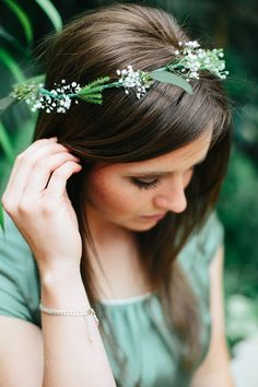simple flower crown | Floral Design by Erin