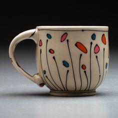 Emily Free Wilson (nice handle!) Pottery Mugs, Ceramic Pottery, Pottery Art, Pottery Painting Designs, Pottery Designs, Sharpie Art, Sharpies, Ceramic Cups, Ceramic Art