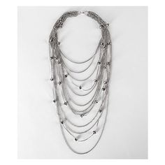 BKE Layered Necklace via Polyvore