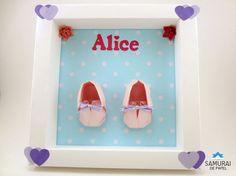 Quadrinho de Maternidade da Alice Samurai, Origami 3d, Alice, Frame, Home Decor, Craft, Paper Envelopes, Picture Frame, Decoration Home