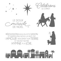 Nuit à Bethléem 145034 Clear-Mount Stamp Set (French) by Stampin' Up!