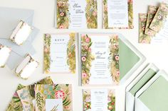Outback, Hand-Painted Protea Flowers Wedding Stationery — Save the Date, Invitation, Menu, RSVP, Place Card, Table Number, Thank You Card