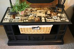 Trash to Treasure.  And I was going to throw out my old TV consoles.  Great coffee table idea ... see turtorial