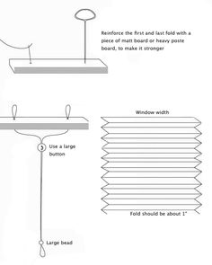 How To Make Temporary Pleated Paper Blinds