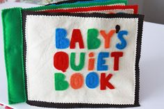 Falling in love with the idea of making a quiet book!!