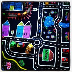 Boys would love a map of our local area. Must do this.