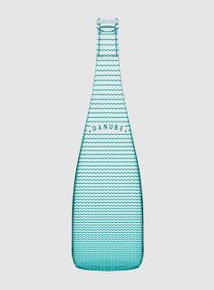 Bottles Gradient Graphic design Logo Packaging Pattern Stripe Transparent Turquoise