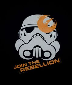 t-shirt Star Wars STORM TROOPER  JOIN THE REBELLION black tee LARGE