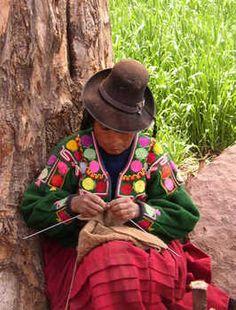 A #peruvian handicrafter. #peru