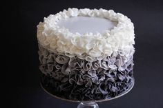 In this video I demonstrate how to make delicate fondant ruffles on a cake with an ombre effect. You will be surprised at just how easy this cake is to decor...