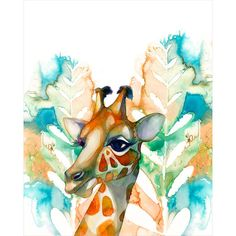 8x10 Giraffe PRINT by BellaAndBunny on Etsy, $28.00