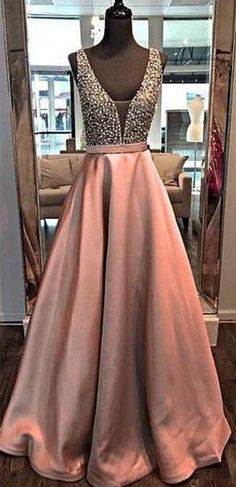 Beading Stain Prom Dress,Cheap Elegant Prom Dress,Beaded Prom Dresses,Long Evening Dress,Formal Gown