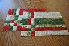 Festive Christmas Placemats Set of Four by cachecreekquilts