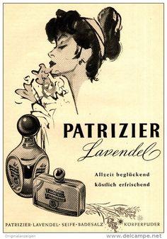 Original-Werbung/Anzeige 1954 - PATRIZIER LAVENDEL PARFUM  - ca. 140 x 200 mm
