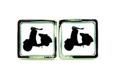 Retro Vespa Scooter  Grooms Gifts  Father of by MoonflameCufflinks, £20.00